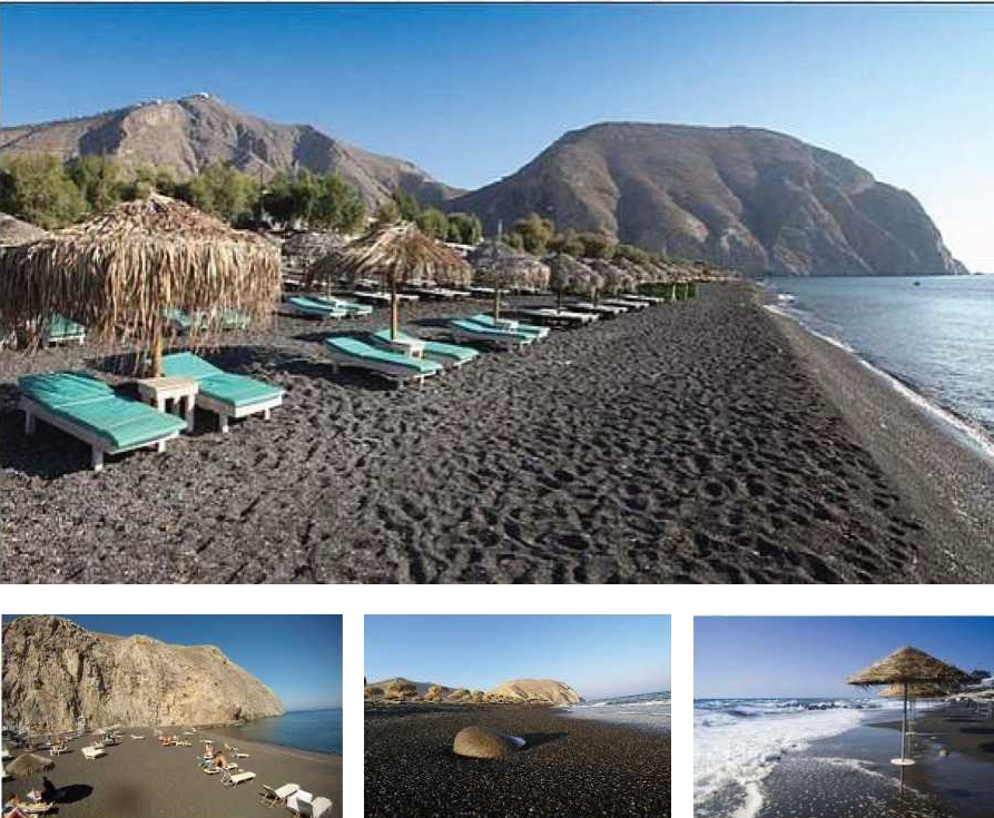 Black Sandy Beach - Santorini